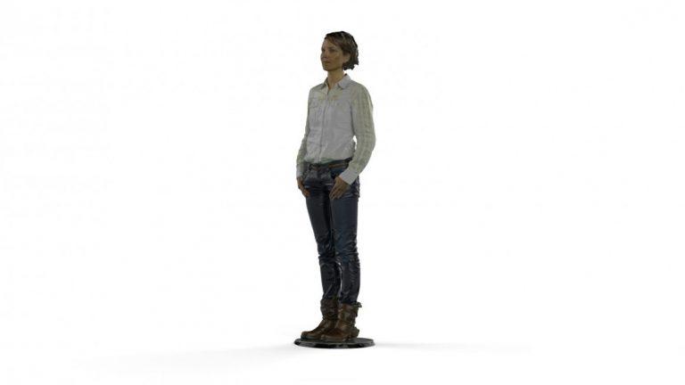 3D Scan von Personen. Unsere Mitarbeiterin wurde Vollfarbgecsannt. Mit unserem MCOR System sind wir in der Lage, daraus vollfarbige Figuren zu drucken