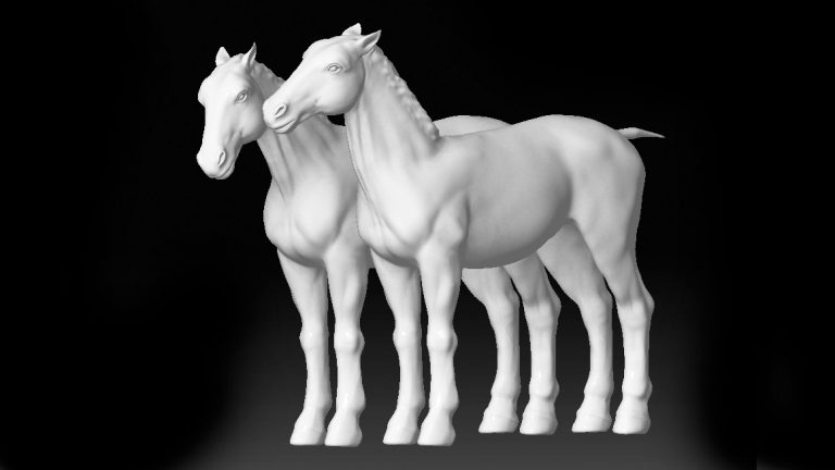 Eines unserer ersten 3D Modelling Projekte. Anatomisch noch nicht ganz korrekt.