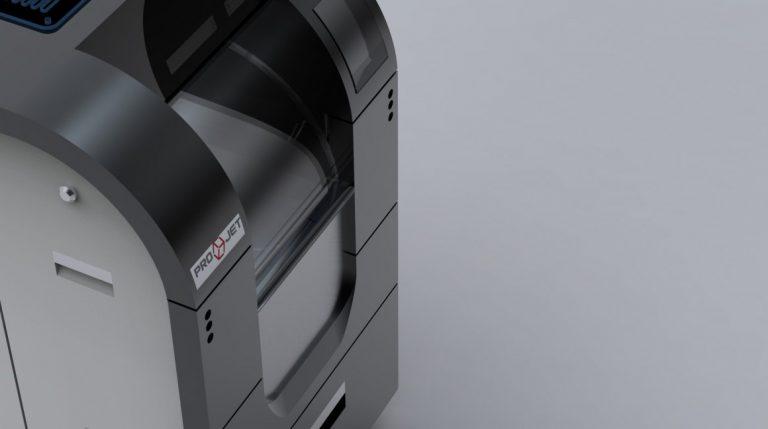 CAD Nachkonstruktion eines unserer ProJet Wachsdrucker. Photorealistisches Renderin.