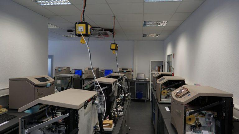 Unser kleiner Maschinenraum mit derzeit 19 Maschinen
